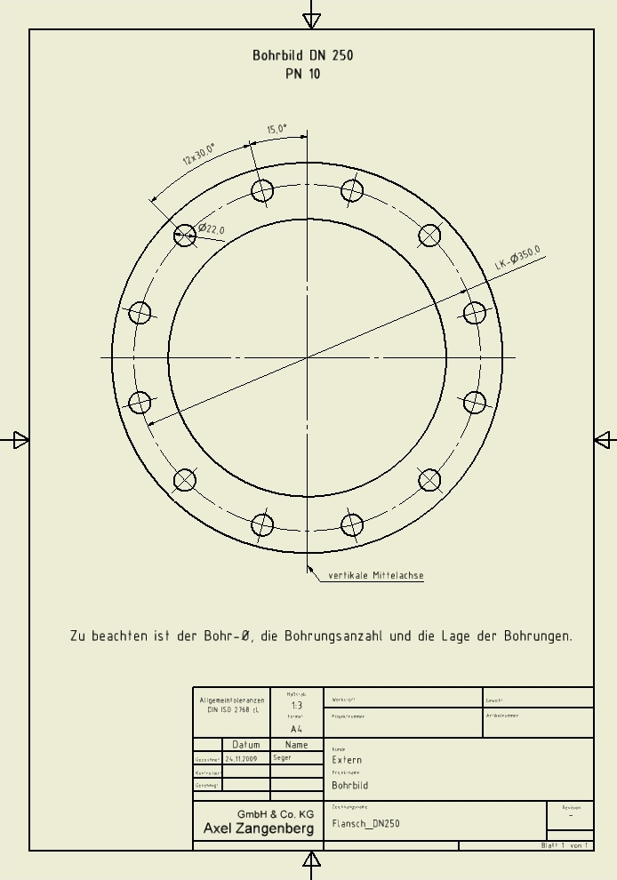 Bohrbild DN250 u2013 Axel Zangenberg GmbH u0026 Co. KG